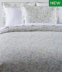 Tossed Leaves Percale Comforter Cover Collection