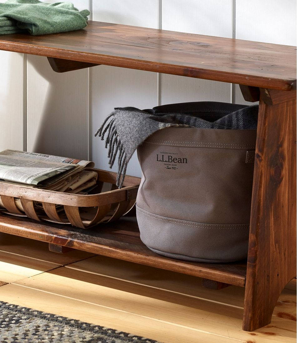 Canvas Storage Cubby Tote