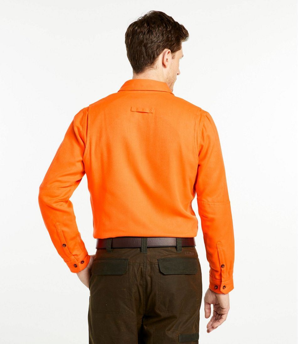 Men's Double L Field Shirt, Hunter Orange
