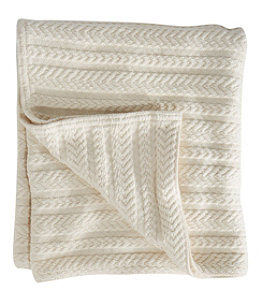 Cotton Cable Sweater Throw