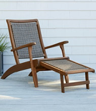 Wicker Eucalyptus Lounger