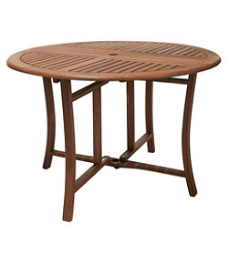 Eucalyptus Folding Table, Round