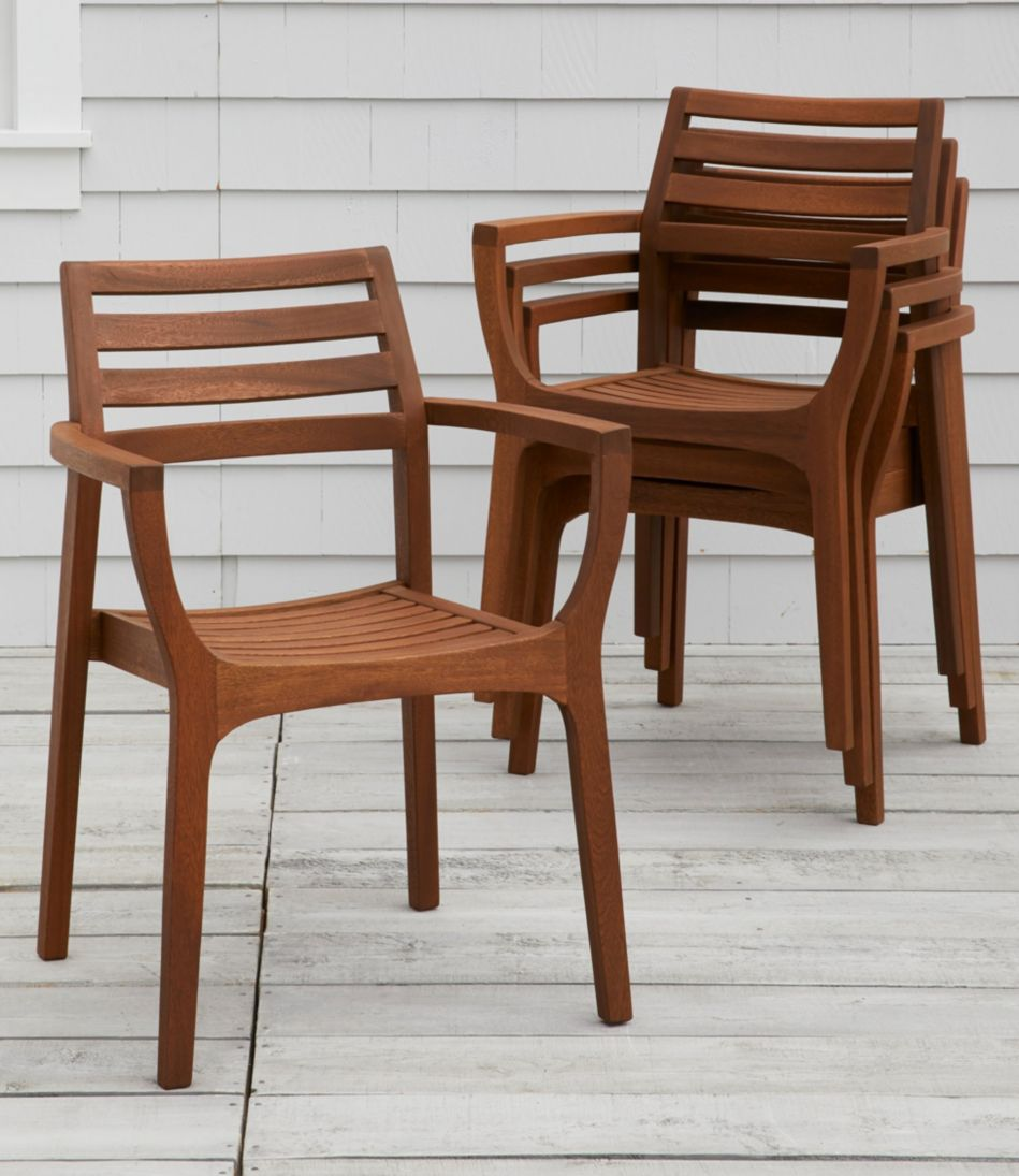 Eucalyptus Stacking Chairs, Set of Four