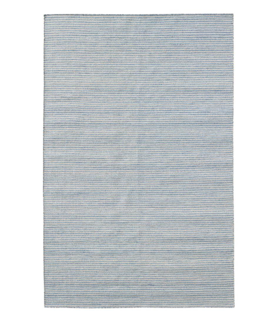 Indoor/Outdoor Pencil Stripe Rug, Denim