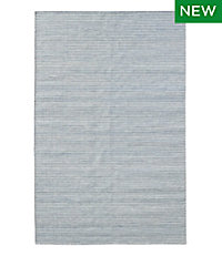 Indoor/Outdoor Pencil Stripe Rug, Denim