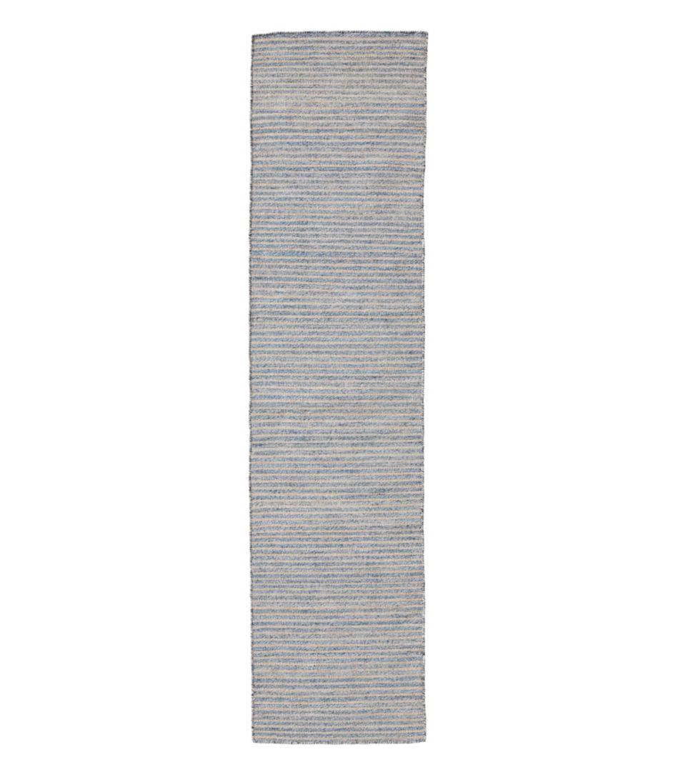 Indoor/Outdoor Pencil Stripe Runner, Denim