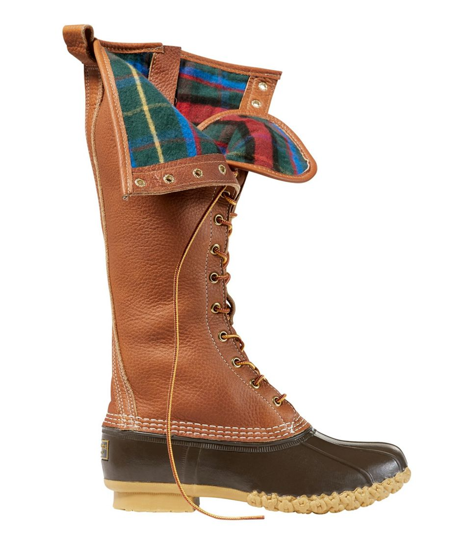 "Women's Limited-Edition Bean Boots, 16"" Flannel-Lined"