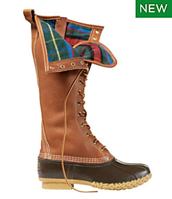 "Women's Limited-Edition L.L.Bean Boots, 16"" Flannel-Lined"