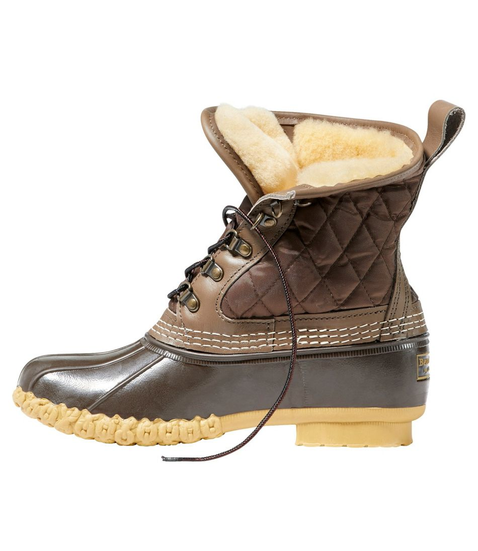 "Women's Bean Boots, 8"" Shearling-Lined"