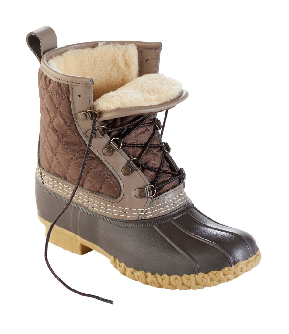 """Women's Bean Boots, 8"""" Shearling-Lined"""