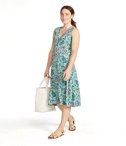 Women's Summer Knit Dress, Sleeveless Print