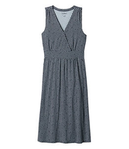 Women's Summer Knit Dress, Sleeveless Print