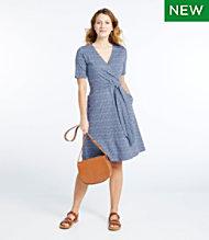 a7dce6944d7f Cotton/Tencel Dress, Elbow-Sleeve Print