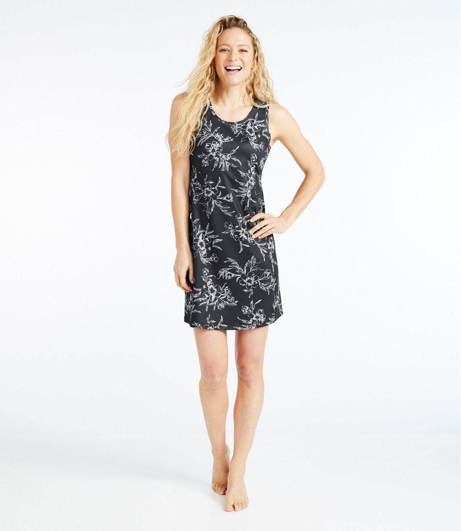 Women's Sleeveless Fitness Dress, Tropical Print