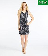 Women's Sleeveless Fitness Dress, Tropical Print