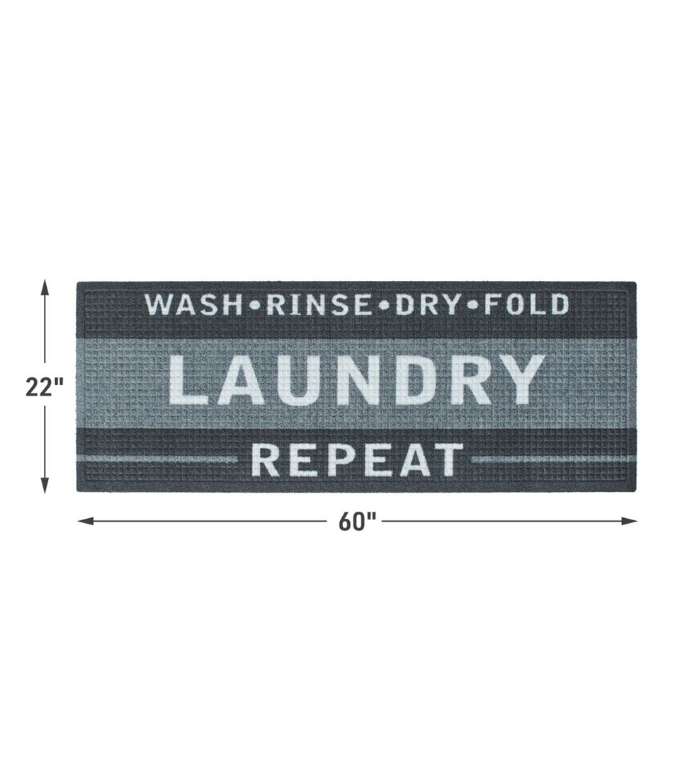 Heavyweight Recycled Waterhog Laundry Room Mat Runner