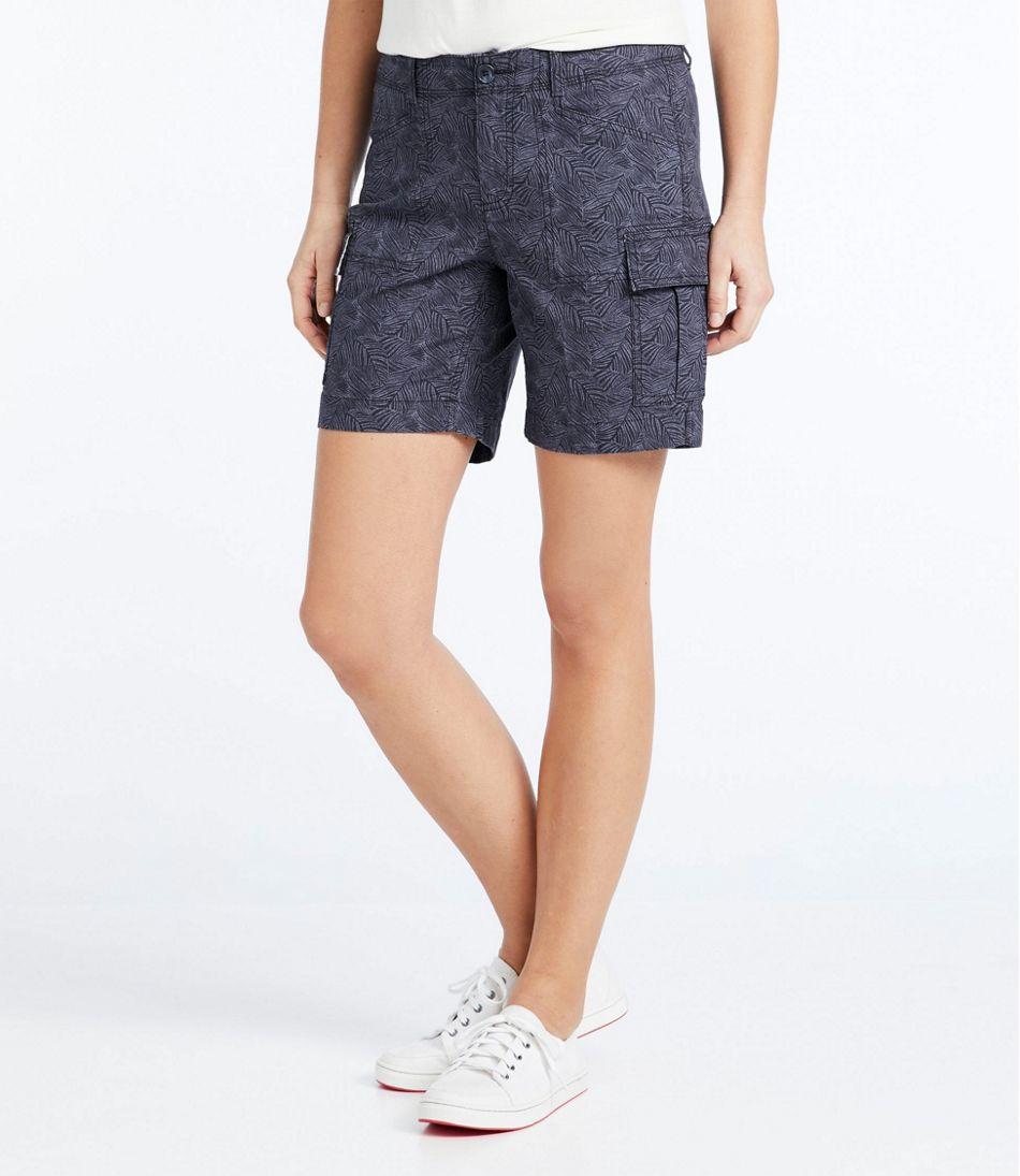 Women's Stretch Canvas Cargo Shorts, Print
