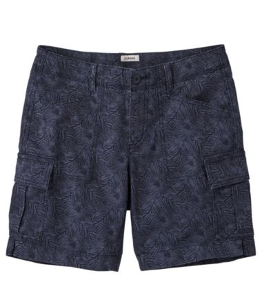 Stretch Canvas Cargo Shorts, Print