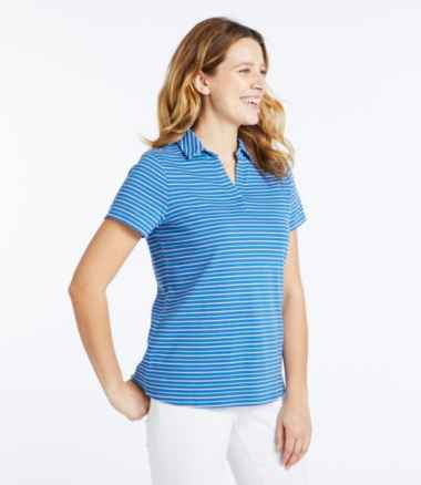 Women's L.L.Bean Polo, Short-Sleeve Stripe