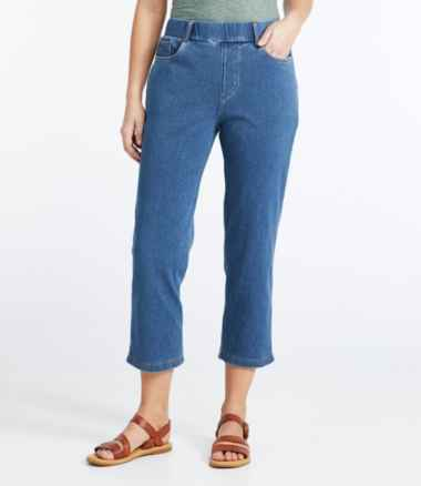 Women's Perfect Fit Cropped Pants, Five-Pocket Slim Denim