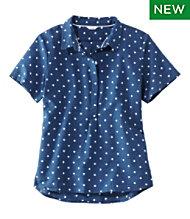 e07ea229 Textured Cotton Popover Shirt, Short-Sleeve Print