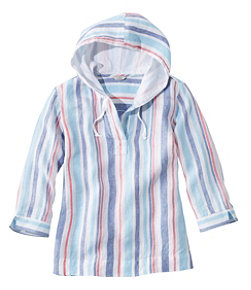 Women's Premium Washable Linen Hoodie, Stripe