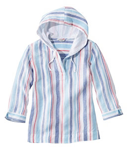 Women's Premium Washable Linen Hoodie, Stripe