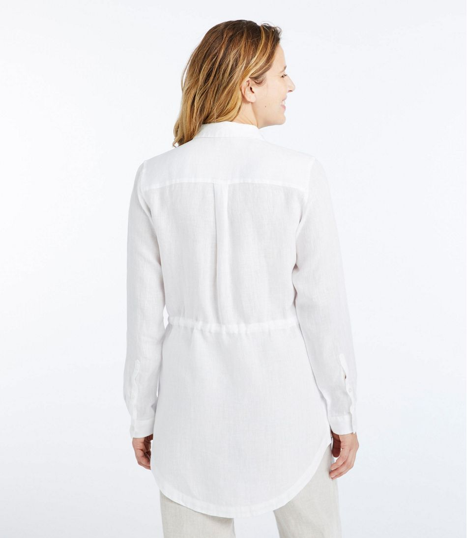 Women's Premium Washable Linen Drawstring Tunic