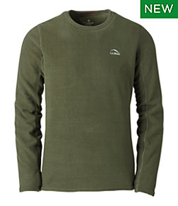 Men's L.L.Bean Fleece Baselayer Crew, Long-Sleeve