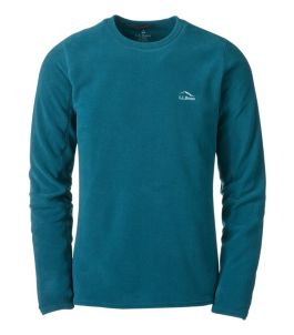 Men's L.L.Bean Fleece Base Layer Crew, Long-Sleeve