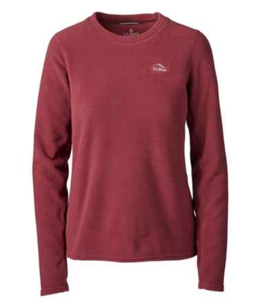 Women's L.L.Bean Fleece Base Layer Crew, Long-Sleeve