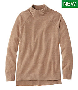 Classic Cashmere Sweater, Mock-Neck Pullover
