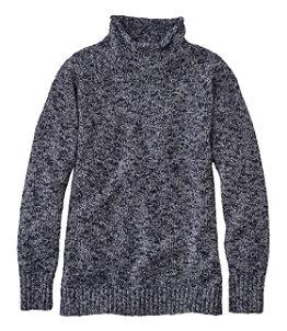 Women's Cotton Ragg Sweater, Funnelneck Pullover
