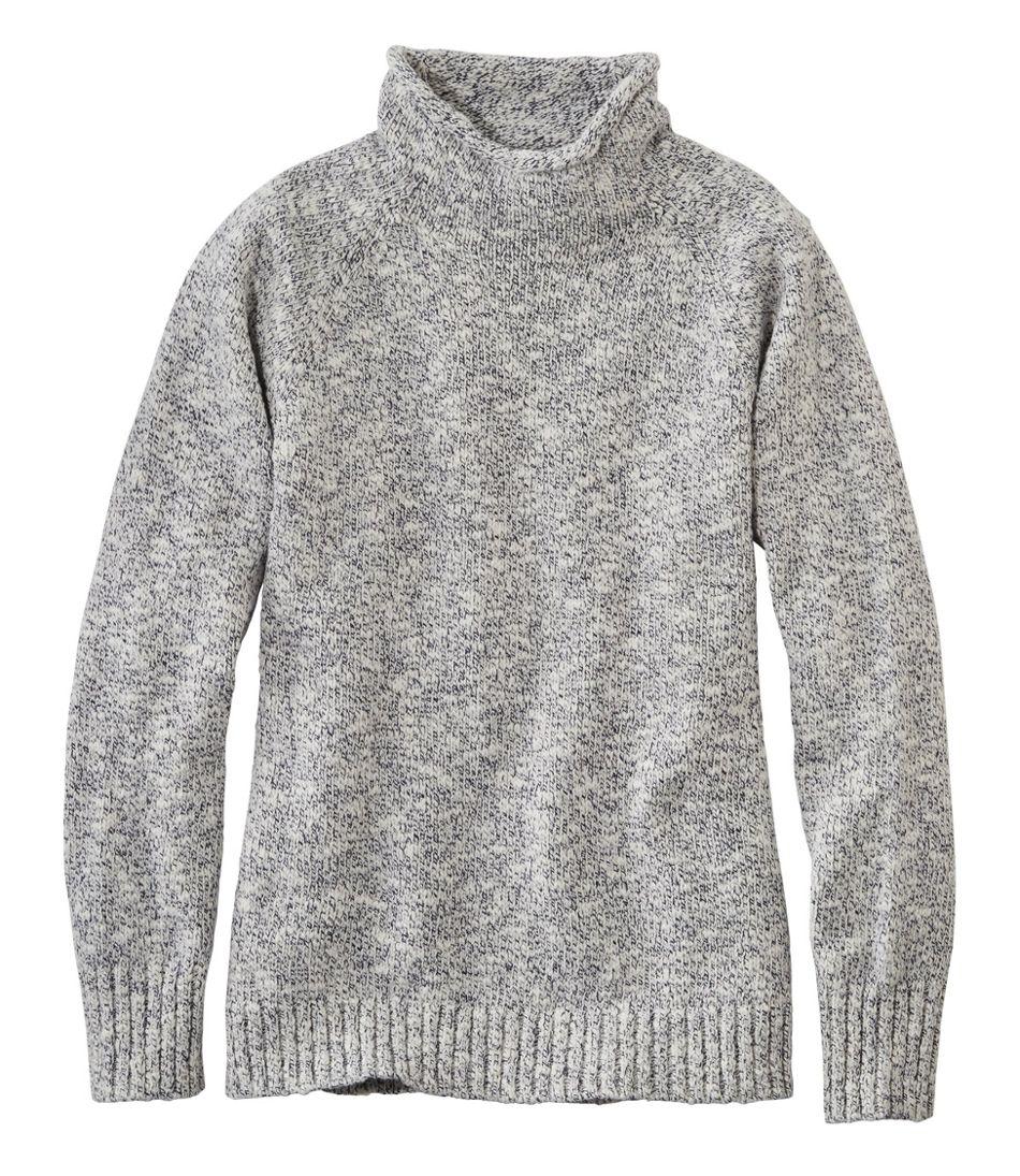 Cotton Ragg Sweater, Funnelneck Pullover
