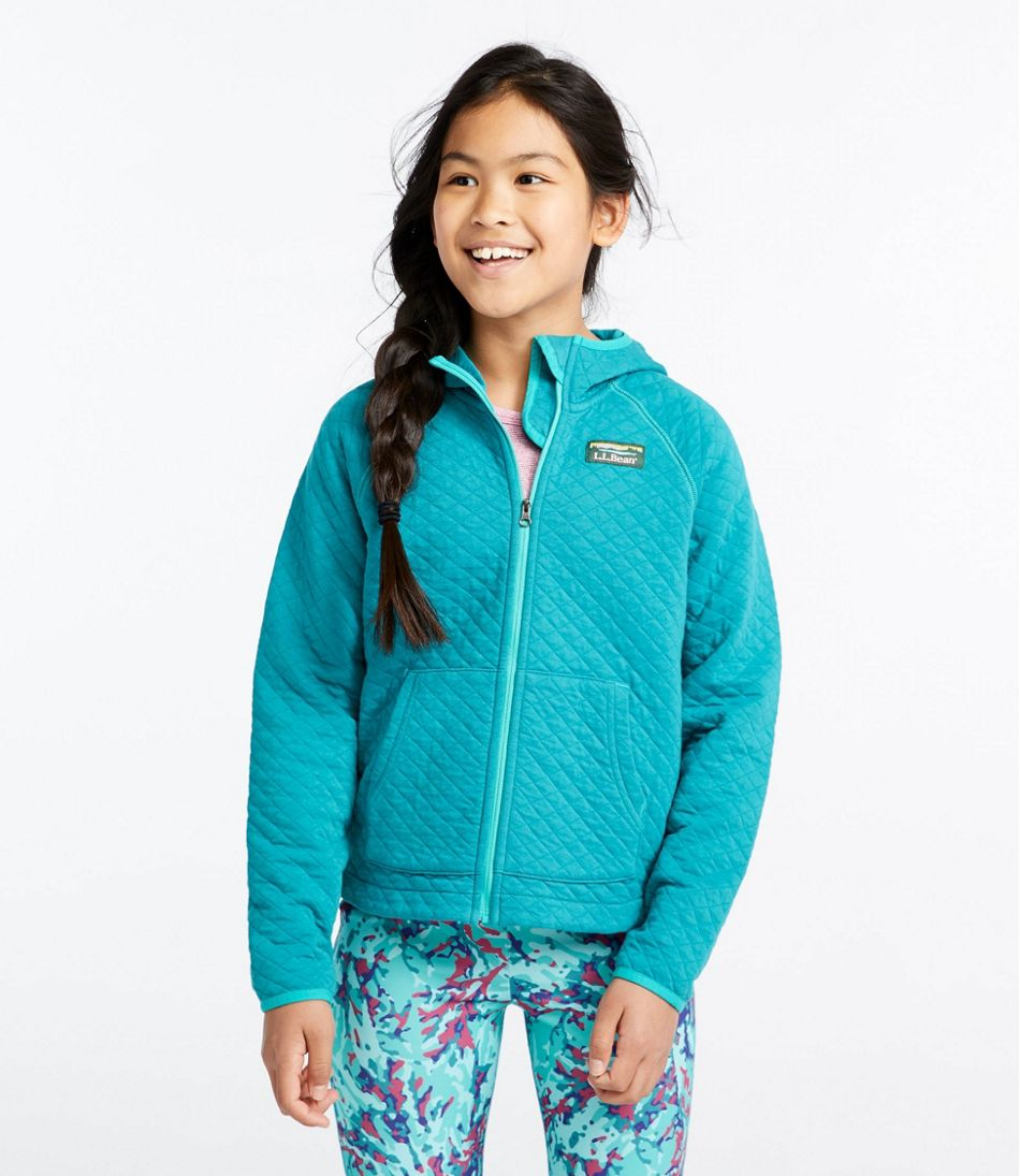 Girls' Quilted Full-ZipJacket, Hooded