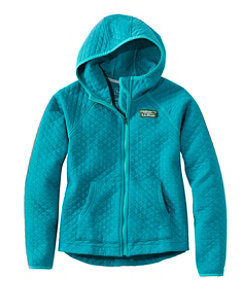 Girls' Quilted Full-Zip Jacket, Hooded