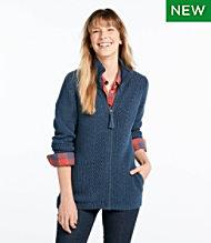 791e78909058ba L.L.Bean Shaker-Stitch Sweater, Zip Cardigan