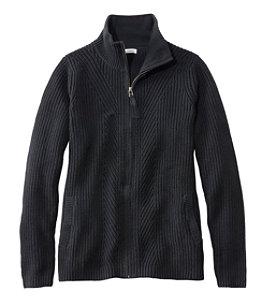 Women's L.L.Bean Shaker-Stitch Sweater, Zip Cardigan