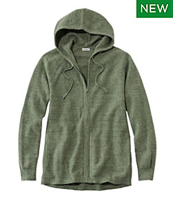Textured Cotton Sweater, Zip Hoodie