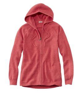 Women's Textured Cotton Sweater, Zip Hoodie