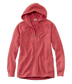 Women's Textured Cotton Sweater, Zip Hoodie