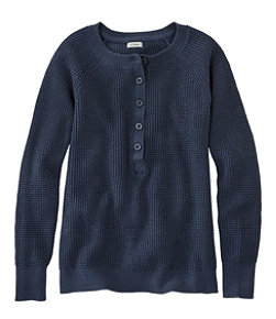 Women's Organic Donegal Sweater, Henley