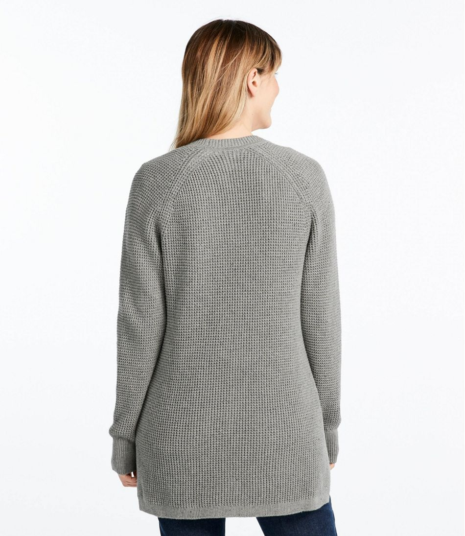 Women's Organic Donegal Sweater, Open Cardigan