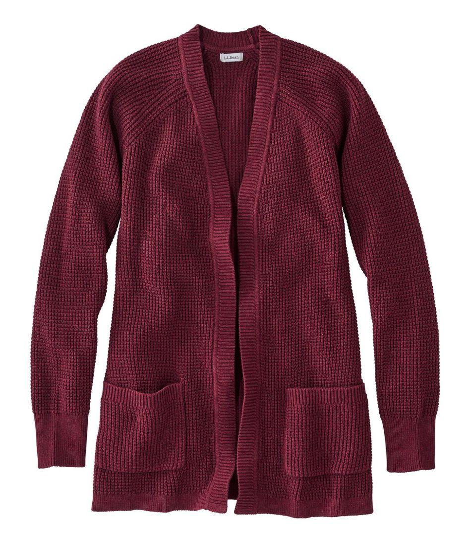 Women's Organic Donegal Sweater, Open Cardigan