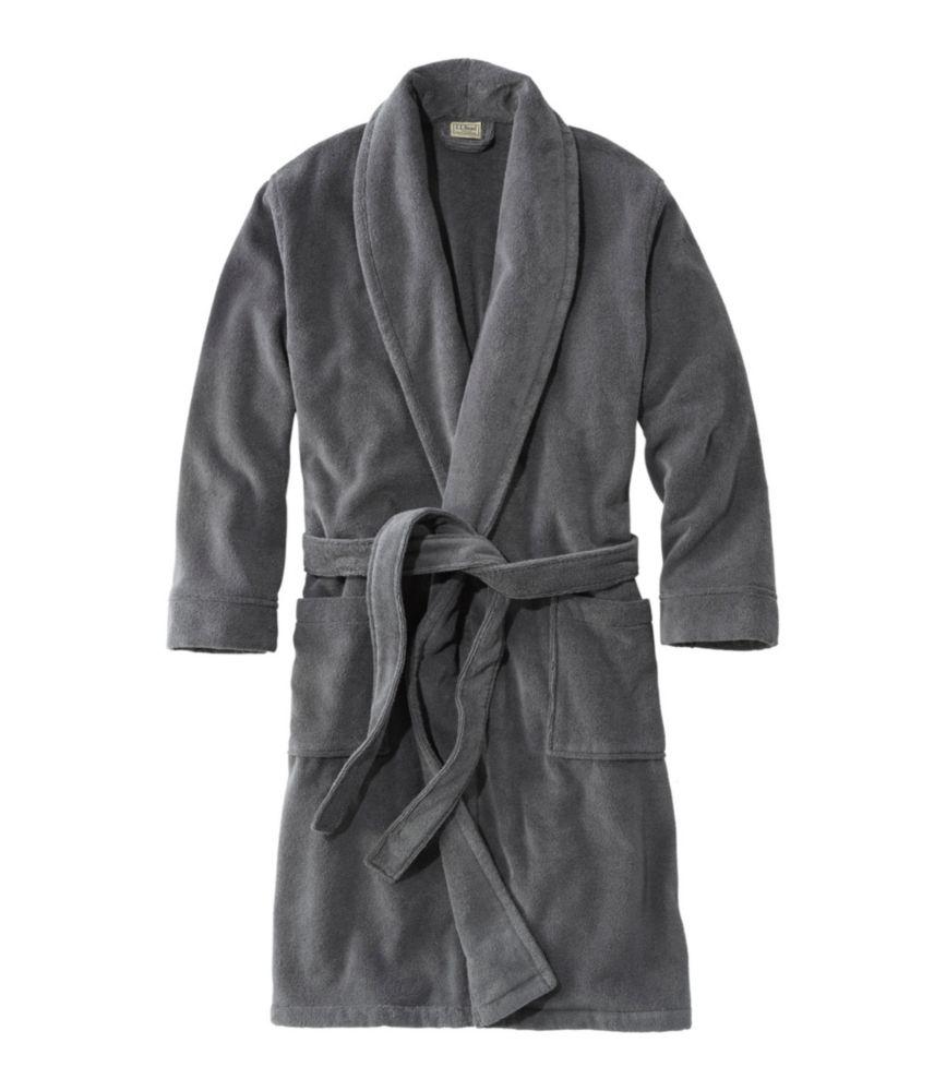 Men S Terry Cloth Organic Cotton Robe