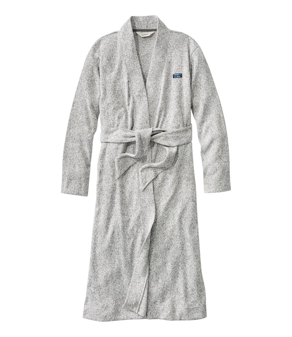 Women's Lightweight Sweater Fleece Wrap Robe