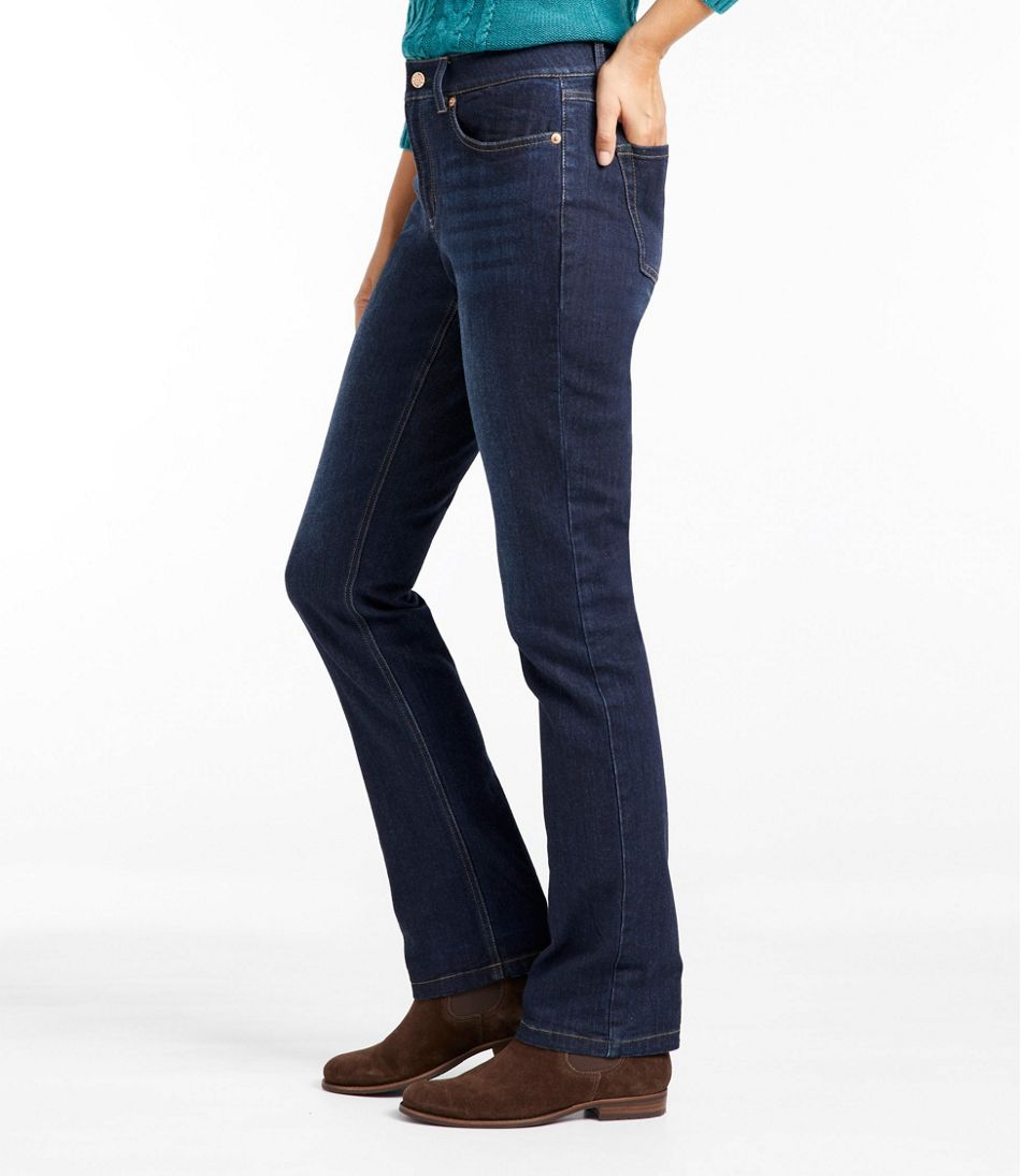 BeanFlex Jeans, Favorite Fit Straight-Leg Lined