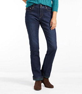 Women's BeanFlex Jeans, Favorite Fit Straight-Leg Lined