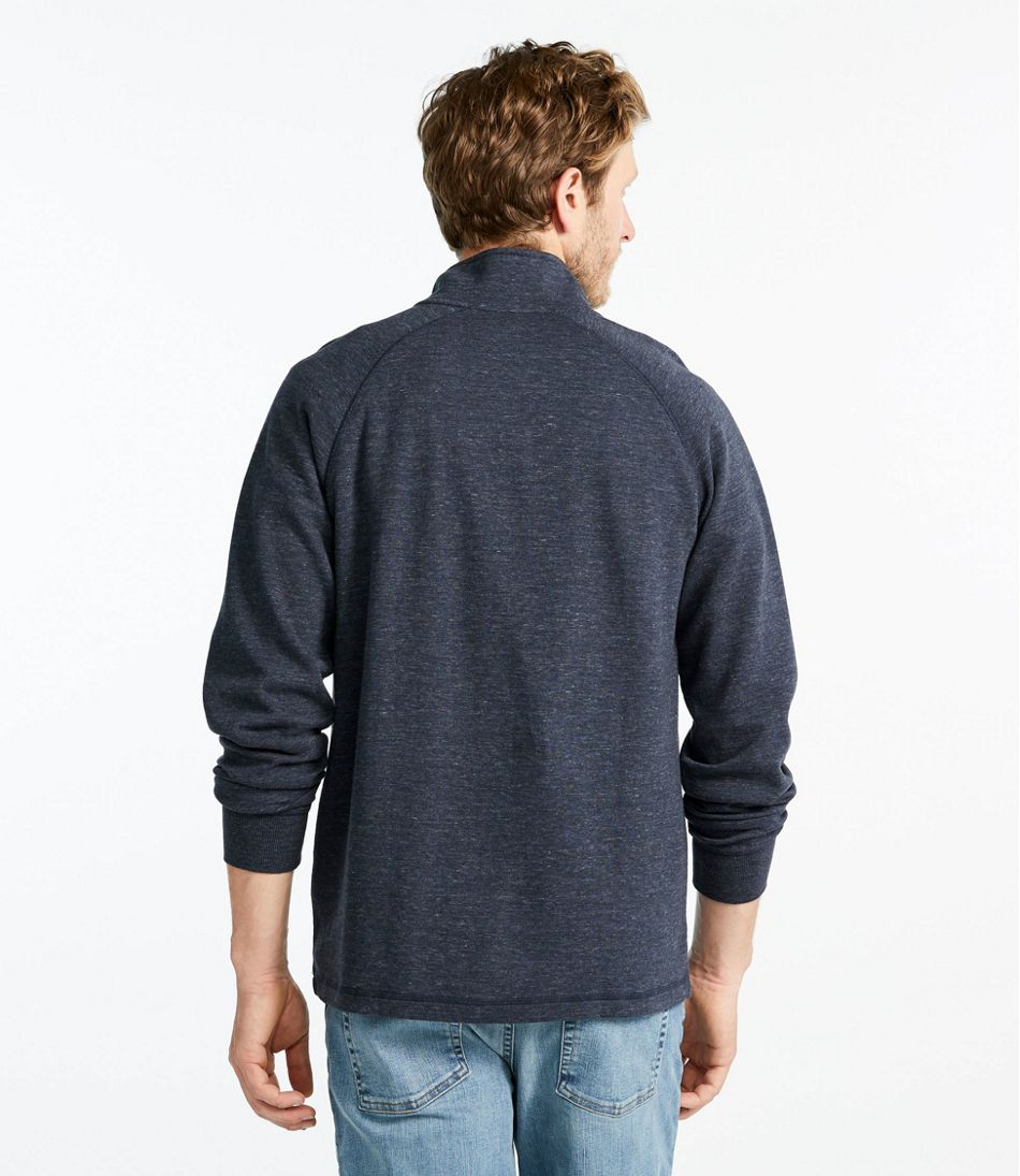Washed Cotton Double-Knit Shirts, Quarter-Zip Pullover
