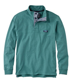 Men's Lakewashed® Rugby Pullover, Traditional Fit, Long-Sleeve